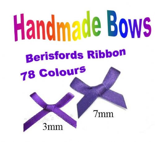 Handmade 3mm or 7mm Satin Ribbon Bows
